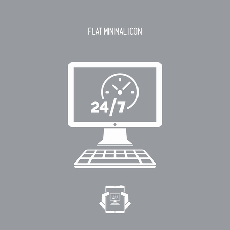ful: 247  ful time web services - Vector flat icon