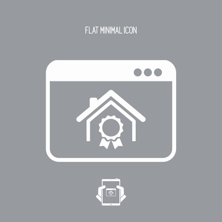 possession: House - Online certificate - Vector flat icon