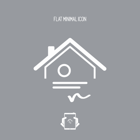 qualify: Home certification - Vector web icon Illustration