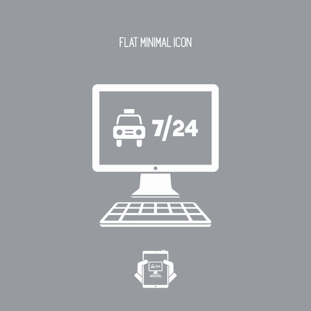 top seven: Web taxi service - 724 - Vector flat icon Illustration