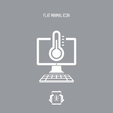 operative: Computer temperature - Vector web icon Illustration