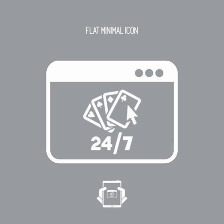 Online poker 247 - Vector flat icon