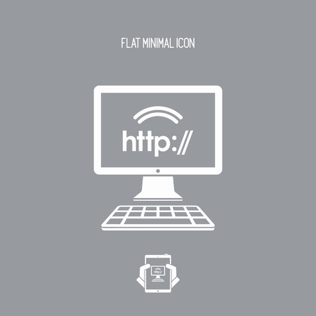 typewrite: Http web connection - Vector flat icon