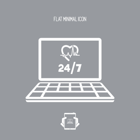 Online medical services 247 - Vector flat icon