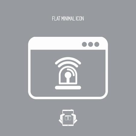 operative: Computer alarm - Vector flat icon