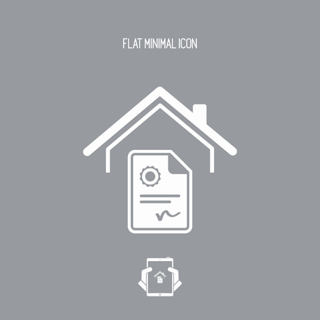 classified: Home contract - Vector web icon