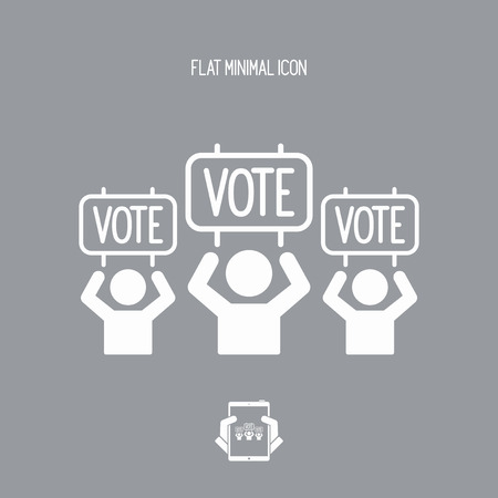 hustings: Electoral supporters - Vector web icon
