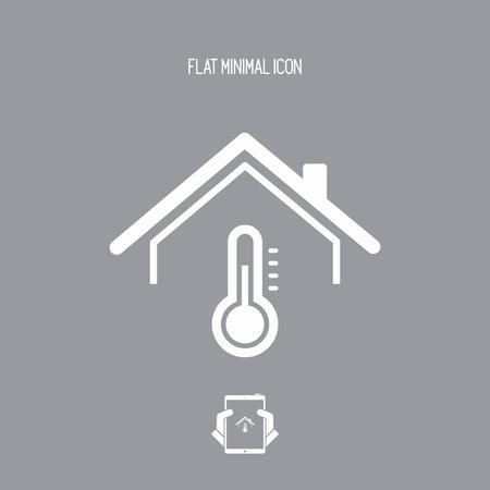 House temperature - Vector web icon Vector Illustration