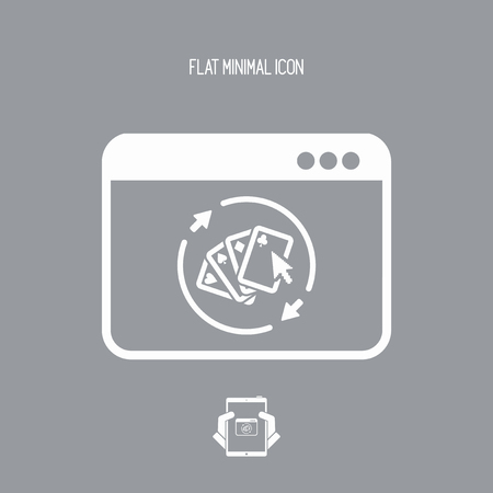 Poker online gaming - Vector flat icon Illustration