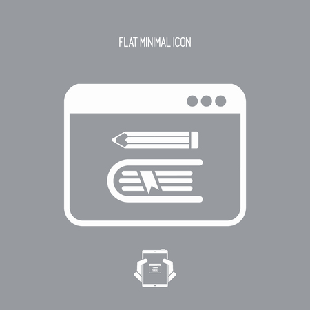 Library online - Vector web icon