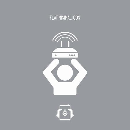 gain access: Internet service offer - Vector web icon
