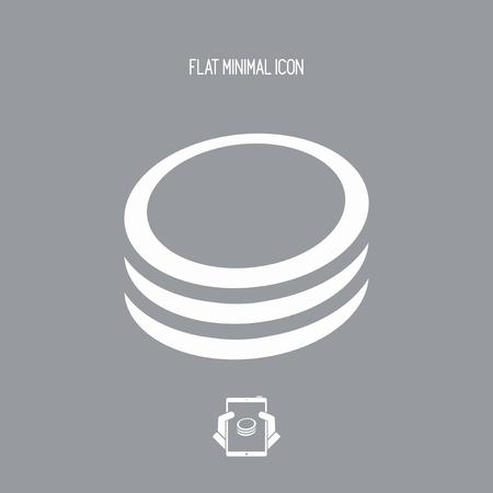 Coins - Vector web icon