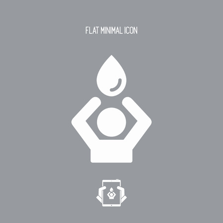 Need for water - Vector web icon