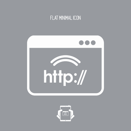 http: Http web connection - Vector flat icon