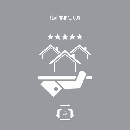 choise: Top rating residence - Vector web icon