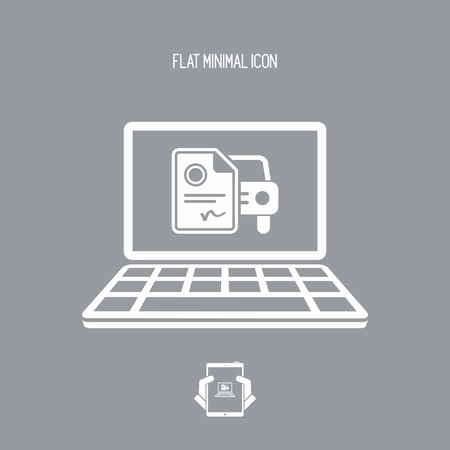 impost: Automotive online document - Sterling - Vector flat icon Illustration