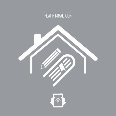 Library or school concept - Vector web icon