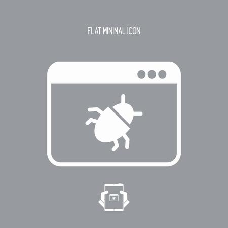 Virus danger - Vector web icon Illustration