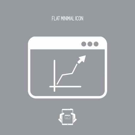 Business increase - Vector web icon
