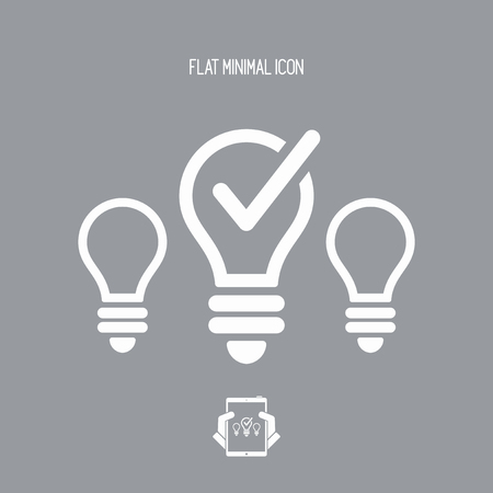 pick light: Best idea picking - Vector web icon Illustration