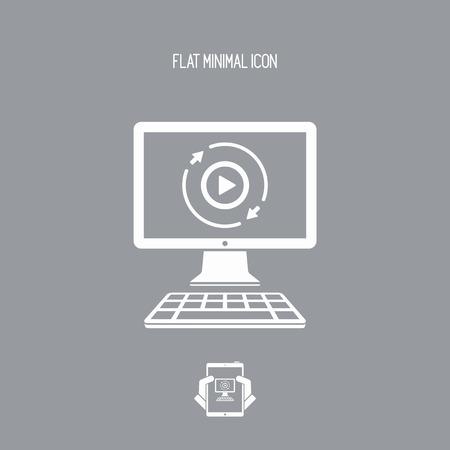 完全なマルチ メディア サービス - ベクトル フラット アイコン