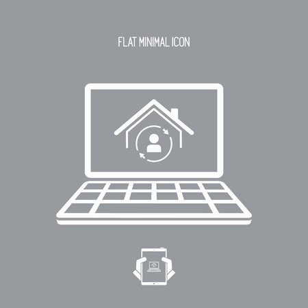 refuge: Online house services - Vector flat icon