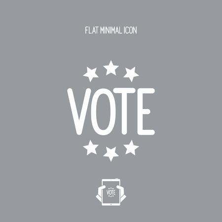 presidential: Vote concept - Vector web icon Illustration