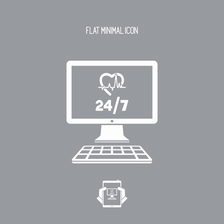 doctor money: Online medical services 247 - Vector flat icon
