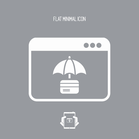 classified: Folder protection - Vector web icon