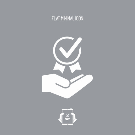 medal like: Top quality certification - Vector web icon