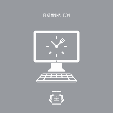 Full time web cooking services - Vector flat icon Vectores