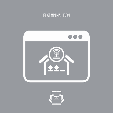 delinquent: Smart home- Alarm protection - Vector flat icon