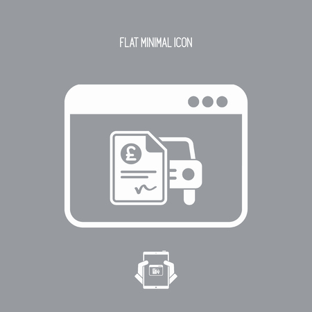 impost: Automotive online quote - Sterling - Vector flat icon