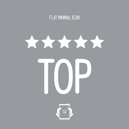 Top rating - Vector web icon