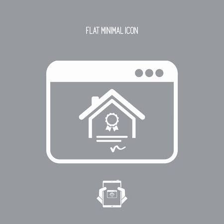acquirement: Residential document service - Vector flat icon Illustration