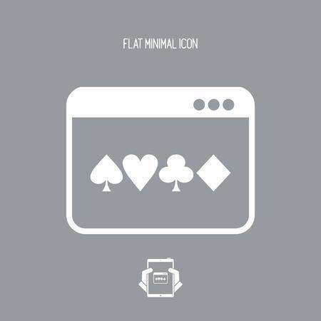 Poker online - Vector flat icon Illustration