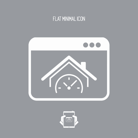 Last minute real estate internet promo - Vector icon for computer website or application
