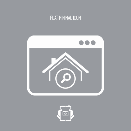 house for sale: Website for find home - Vector computer application icon