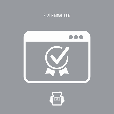 operative: Top rating certificate - Vector icon for computer website or application