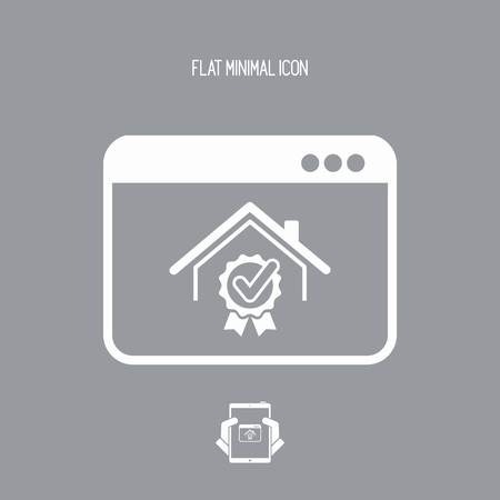 choise: Best house rating winner - Vector icon for computer website or application