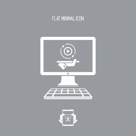 完全なマルチ メディア サービス - ベクトル フラット アイコン  イラスト・ベクター素材