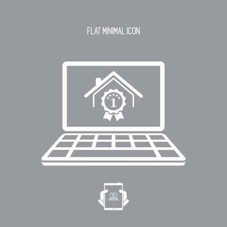 Mejor calificación de la casa - Ganador del premio - Icono de vector de la aplicación informática