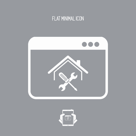 Home repair assistance service - Vector icon for computer website or application Illustration