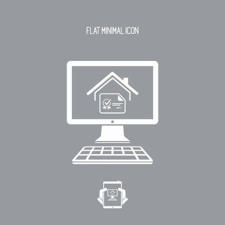 House certificate - Vector icon for computer website or application