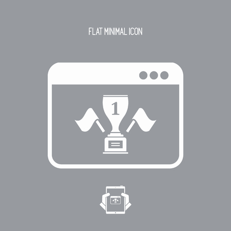 exult: Winner cup page - Vector icon for computer website or application Illustration