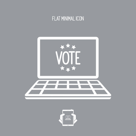 nomination: Electoral page - Vector icon for computer website or application