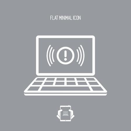running off: Alert window - Vector icon of computer application
