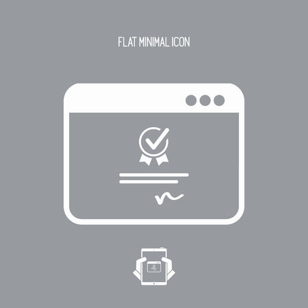 disagree: Digital certificate - Vector icon for computer website or application