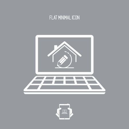 House design project - Vector icon of computer application