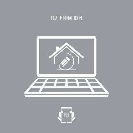 Projekt domu projektu - Vector ikonę aplikacji komputerowych